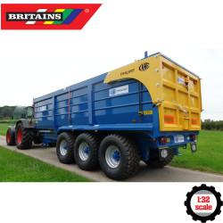 Britains 43284 Kane Tri-Axel Halfpipe Silage Trailer 1:32 Diecast Farm Vehicle