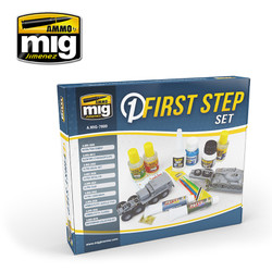 Ammo by MIG First Steps Set - Beginners Set for Model Kit Painting 7800