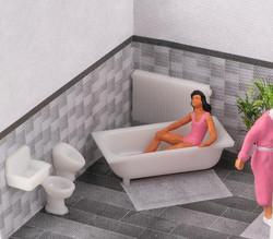 Faller Bathroom Tiling Kit IV FA180993 HO Gauge