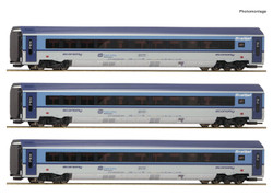 Roco CD Railjet Coach Set w/Lighting (3) VI RC74068 HO Gauge