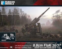 Rubicon Models 280069 8cm Flak 36/37 Aa/At Gun & Sdah 202 & Crew 1:56 Model Kit