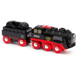Brio 33884 Battery Operated Steaming Train for Wooden Train Set