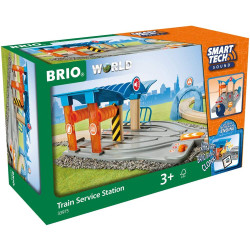 Brio 33975 Smart Tech Sound - Train Service Station for Wooden Train Set