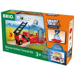 Brio 33976 Smart Tech Sound - Rescue Action Tunnel Kit for Wooden Train Set