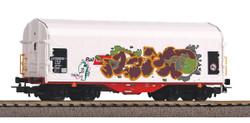 PIKO Expert Rail Cargo Austria Graffitied Tarpaulin Wagon VI HO Gauge 58982