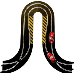 SCALEXTRIC BUNDLE C8201 C8246 C8203 Hairpin Curve Side Swipes Crossover