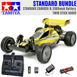 TAMIYA RC 58374 Sand Viper DT-02 Tuned 2WD 1:10 Standard Stick Radio Bundle