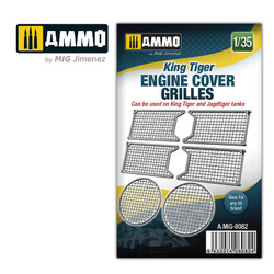 Ammo by MIG 1/35 King Tiger Tank Engine Cover Grills For Model Kits MIG 8082