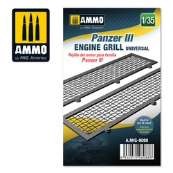 Ammo by MIG Panzer Iii Engine Grilles Universal, Scale 1/35 For Model Kits MIG 8088