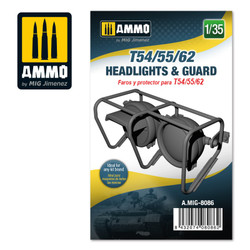 Ammo by MIG T54/55/62 Headlights & Guard, Scale 1/35 For Model Kits MIG 8086