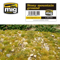Ammo by MIG Stoney Mountain Ground Grass Mat For Model Kits MIG 8351