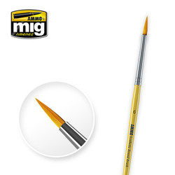 Ammo by MIG Size 6 Synthetic Round Brush For Model Kits MIG 8616