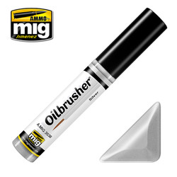 Ammo by MIG Silver Oilbrusher For Model Kits MIG 3538