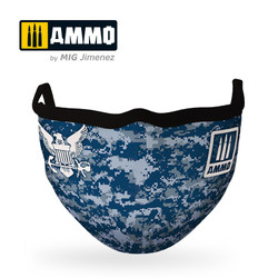 Ammo by MIG Navy Blue Camo Face Mask For Model Kits MIG 8073