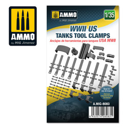 Ammo by MIG Wwii Us Tanks Tool Clamps, Scale 1/35 For Model Kits MIG 8083