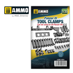 Ammo by MIG 1/35 Panzer Iv Tank Tool Clamps For Model Kits MIG 8081