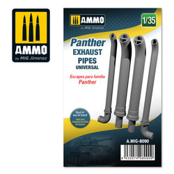 Ammo by MIG Panther Exhausts Pipes Universal, Scale 1/35 For Model Kits MIG 8090