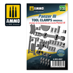 Ammo by MIG Panzer Iii Tool Clamps Universal, Scale 1/35 For Model Kits MIG 8087