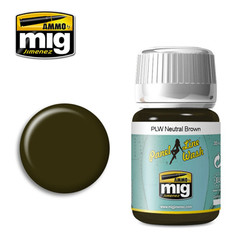 Ammo by MIG Neutral Brown Panel Line Wash For Model Kits MIG 1614