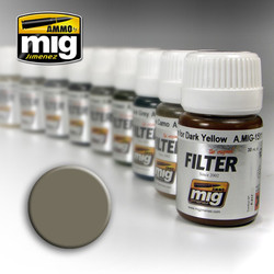 Ammo by MIG Grey For Yellow Sand Filter For Model Kits MIG 1505
