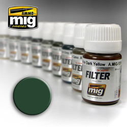 Ammo by MIG Green For Grey Filter For Model Kits MIG 1508