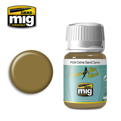 Ammo by MIG Ochre For Sand Camoflage Panel Line Wash For Model Kits MIG 1622