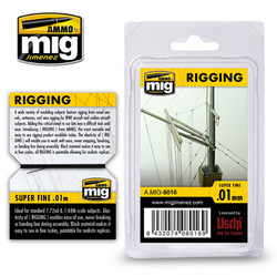 Ammo by MIG Rigging Super Fine 0.01Mm For Model Kits MIG 8016