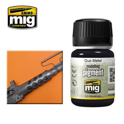 Ammo by MIG Gun Metal Pigment For Model Kits MIG 3009