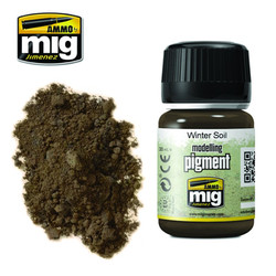 Ammo by MIG Winter Soil Pigment For Model Kits MIG 3029