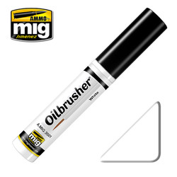 Ammo by MIG White Oilbrusher For Model Kits MIG 3501