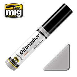 Ammo by MIG Medium Grey Oilbrusher For Model Kits MIG 3509