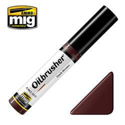 Ammo by MIG Dark Brown Oilbrusher For Model Kits MIG 3512