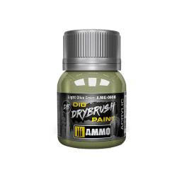 Ammo by MIG Drybrush Light Olive Green For Model Kits MIG 0608