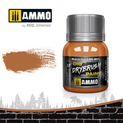 Ammo by MIG Drybrush Medium Rust For Model Kits MIG 0611
