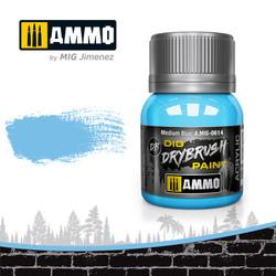 Ammo by MIG Drybrush Medium Blue For Model Kits MIG 0614