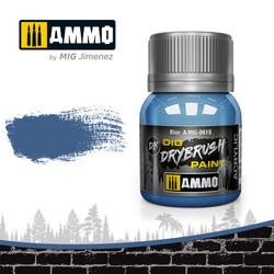Ammo by MIG Drybrush Blue For Model Kits MIG 0615