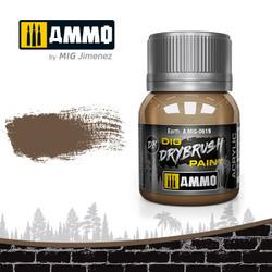 Ammo by MIG Drybrush Earth For Model Kits MIG 0619