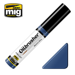 Ammo by MIG Marine Blue Oilbrusher For Model Kits MIG 3527