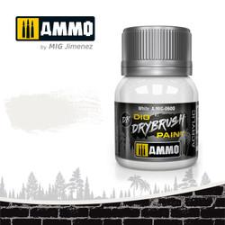 Ammo by MIG Drybrush White For Model Kits MIG 0600