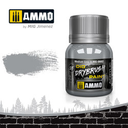 Ammo by MIG Drybrush Medium Grey For Model Kits MIG 0602