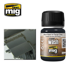 Ammo by MIG Blue Wash For Panzer Grey For Model Kits MIG 1006