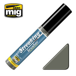 Ammo by MIG Cold Dirty Grey Streaking Brusher For Model Kits MIG 1251
