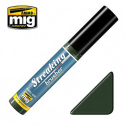Ammo by MIG Green Grey Grime Streaking Brusher For Model Kits MIG 1256