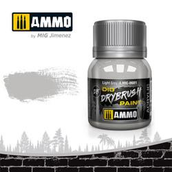Ammo by MIG Drybrush Light Grey For Model Kits MIG 0601