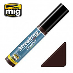 Ammo by MIG Red Brown Streaking Brusher For Model Kits MIG 1252