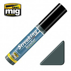 Ammo by MIG Warm Dirty Grey Streaking Brusher For Model Kits MIG 1257