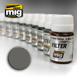 Ammo by MIG Grey For White Filter For Model Kits MIG 1501