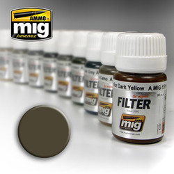 Ammo by MIG Dark Grey For White Filter For Model Kits MIG 1502