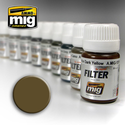 Ammo by MIG Brown For Desert Yellow Filter For Model Kits MIG 1504