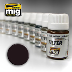 Ammo by MIG Brown For Dark Green Filter For Model Kits MIG 1506